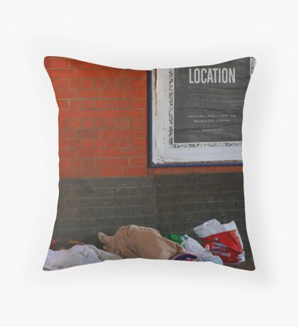 New location Throw Pillow
