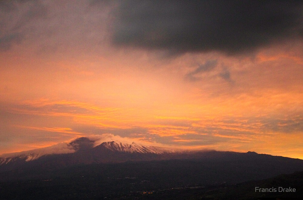 Mount Etna Sunset Mood by Francis Drake
