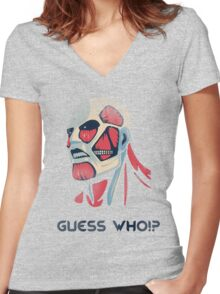 Guess who!? Women's Fitted V-Neck T-Shirt