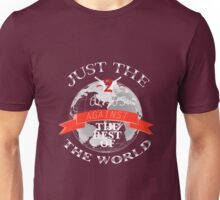 Two Of Us Against The Rest Of The World (White+Red) Unisex T-Shirt