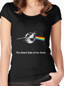 The Shark Side of the Moon Women's Fitted Scoop T-Shirt