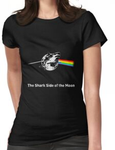 The Shark Side of the Moon Womens Fitted T-Shirt