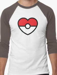 Pokéheart Men's Baseball ¾ T-Shirt