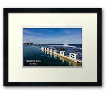 Merewether Baths - Beachcomber Series Framed Print