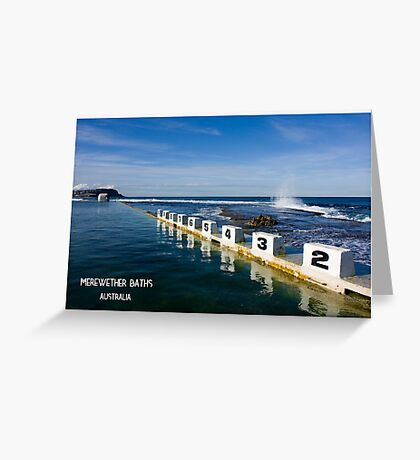 Merewether Baths - Beachcomber Series Greeting Card