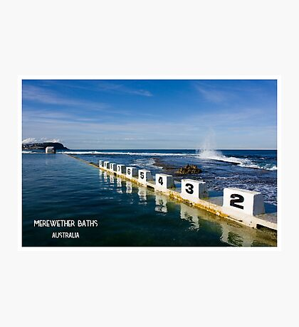 Merewether Baths - Beachcomber Series Photographic Print