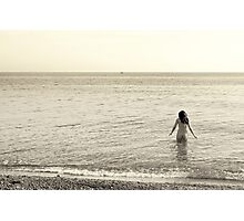 Nude bathing Photographic Print