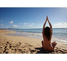 Yoga on the beach Photographic Print