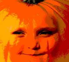 Honey Boo Boo Jack O Lantern Sticker