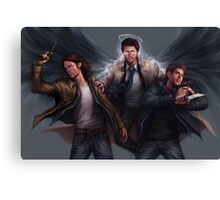 Sam, Castiel & Dean Supernatural Canvas Print
