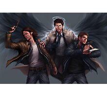Sam, Castiel & Dean Supernatural Photographic Print
