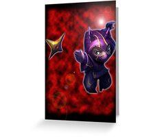 Ninja Attack Greeting Card