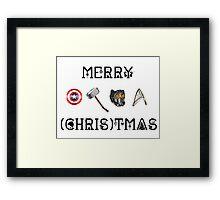Merry (Chris)tmas Framed Print