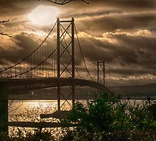 Firth of Forth Road Bridge - Scotland by Glen Allen