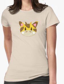 Cute Cartoon Giraffe Pattern Womens Fitted T-Shirt