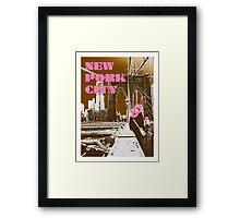 New Pork City Framed Print