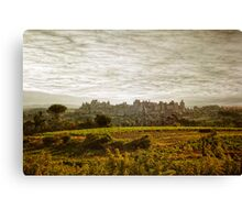Historic fortified city of carcassonne (France) Canvas Print