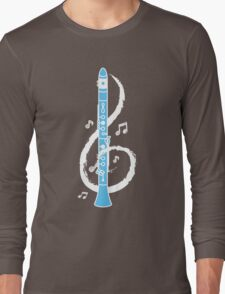 Musical Clarinet Treble Clef Long Sleeve T-Shirt
