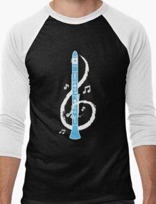 Musical Clarinet Treble Clef Men's Baseball ¾ T-Shirt