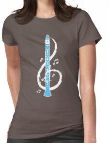 Musical Clarinet Treble Clef Womens Fitted T-Shirt