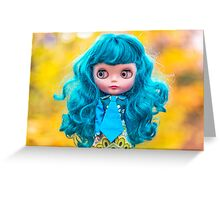 Crazy haired Amelia Greeting Card