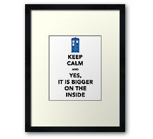 Yes It Is Bigger (On The Other Side) Framed Print