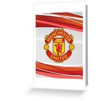 manchester united fc red devils 007 Greeting Card