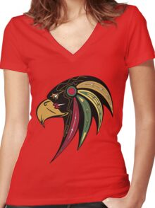 Chicago Blackhawks Alternate Women's Fitted V-Neck T-Shirt