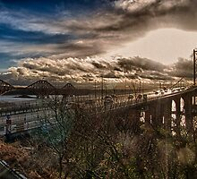The Two Firth of Forth Bridges by Glen Allen