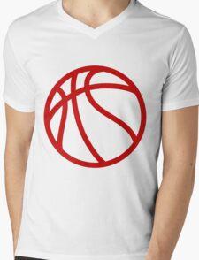 BASKETBALL Mens V-Neck T-Shirt