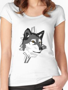 Wolf in the Woods Women's Fitted Scoop T-Shirt