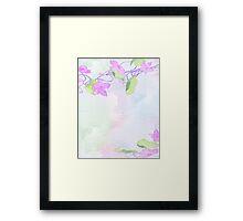 Floral Display Pastel Colors Framed Print
