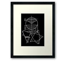 Vintage Math Diagrams - white on black Framed Print