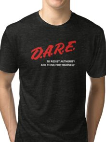 DARE TO RESIST AUTHORITY Tri-blend T-Shirt