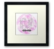 Wish With All Your Heart Framed Print