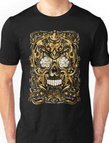 Gold Mexican Skull Unisex T-Shirt