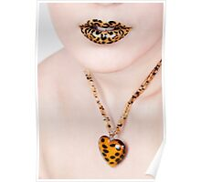 Leopard Lips Poster