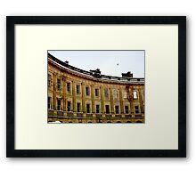 The Crescent, Buxton. Snow Framed Print