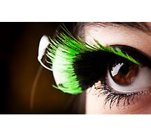 Green Lashes Photographic Print