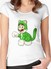 Cat Luigi Women's Fitted Scoop T-Shirt