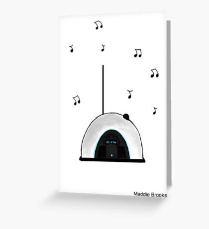 Portal Radio Greeting Card
