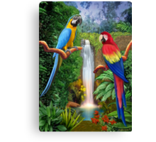 MACAW TROPICAL PARROTS Canvas Print