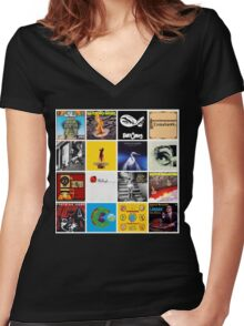 Mike Patton - Assorted albums Women's Fitted V-Neck T-Shirt