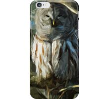 Wild Barred Owl Abstract Impressionism iPhone Case/Skin