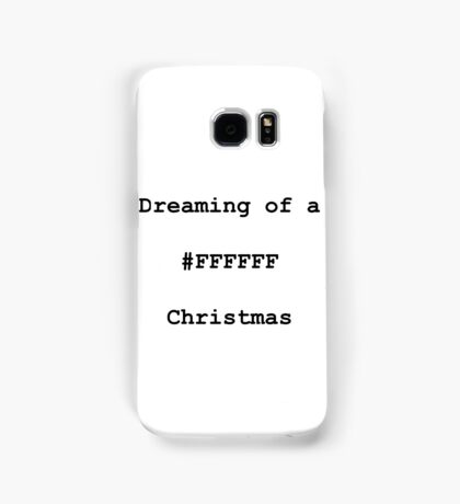 White (#FFFFFF) Christmas Samsung Galaxy Case/Skin