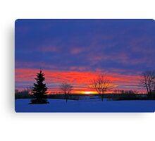 Winter Sunrise on the Prairies Canvas Print
