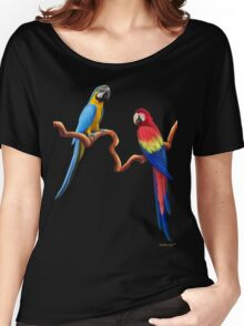 MACAW TROPICAL PARROTS Women's Relaxed Fit T-Shirt