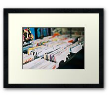 records Framed Print