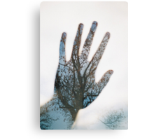 hand in the trees Canvas Print