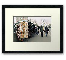bouquinistes Framed Print
